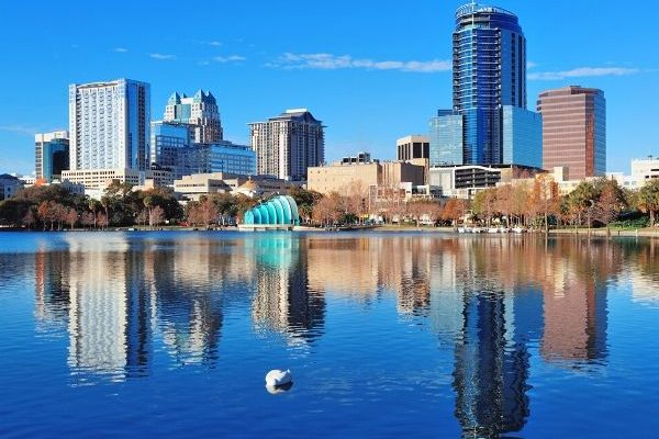 Lake Eola and Orlando Skyline